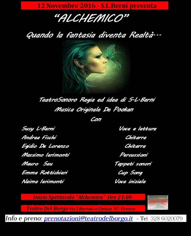 Alchemico Teatro del Borgo 12 novembre