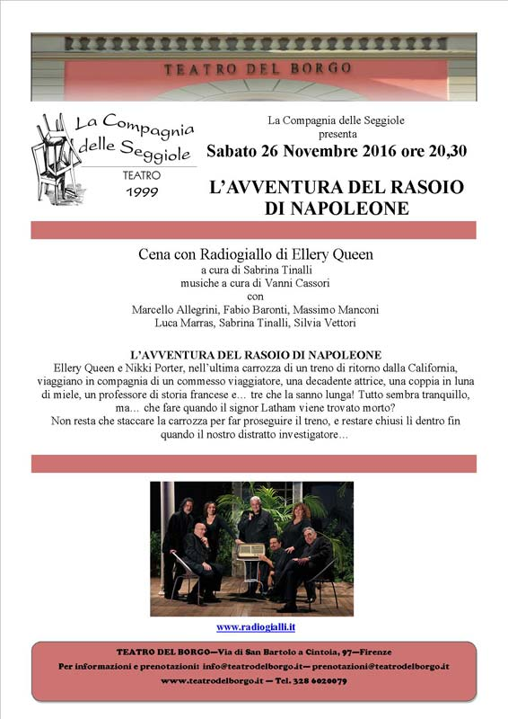 Cena con Radiogiallo Teatro del Borgo