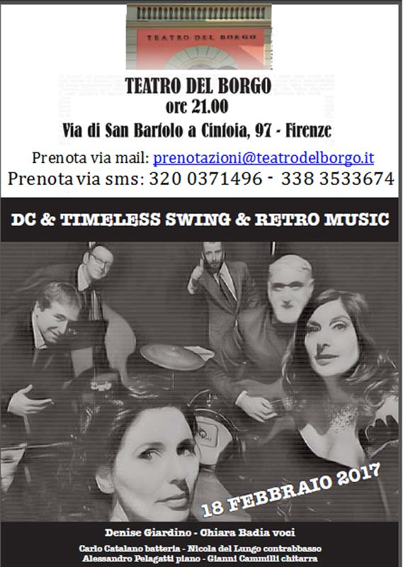 Dc &Timeless Swing & Retro Music - 18 febbraio 2017 ore 21.00