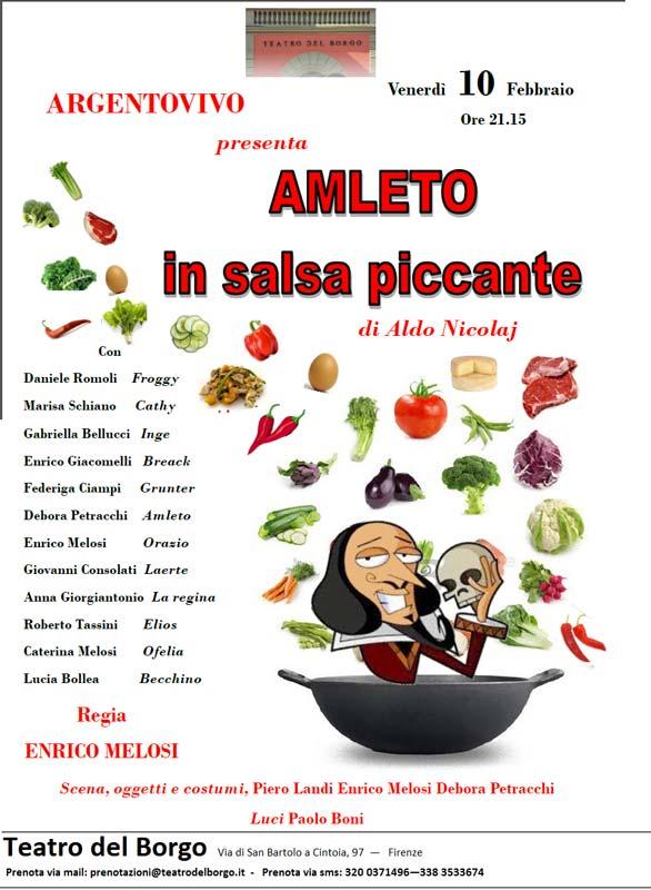 Amleto in salsa piccante - Teatro del Borgo 10 febbraio ore 21:15
