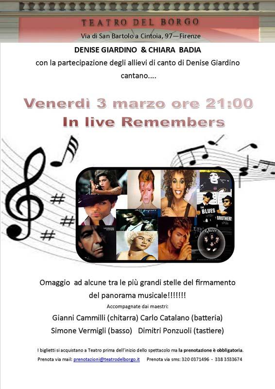In live remembers teatro del borgo