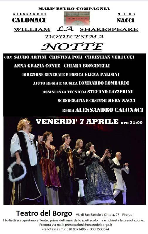 La dodicesima notte Teatro del Borgo