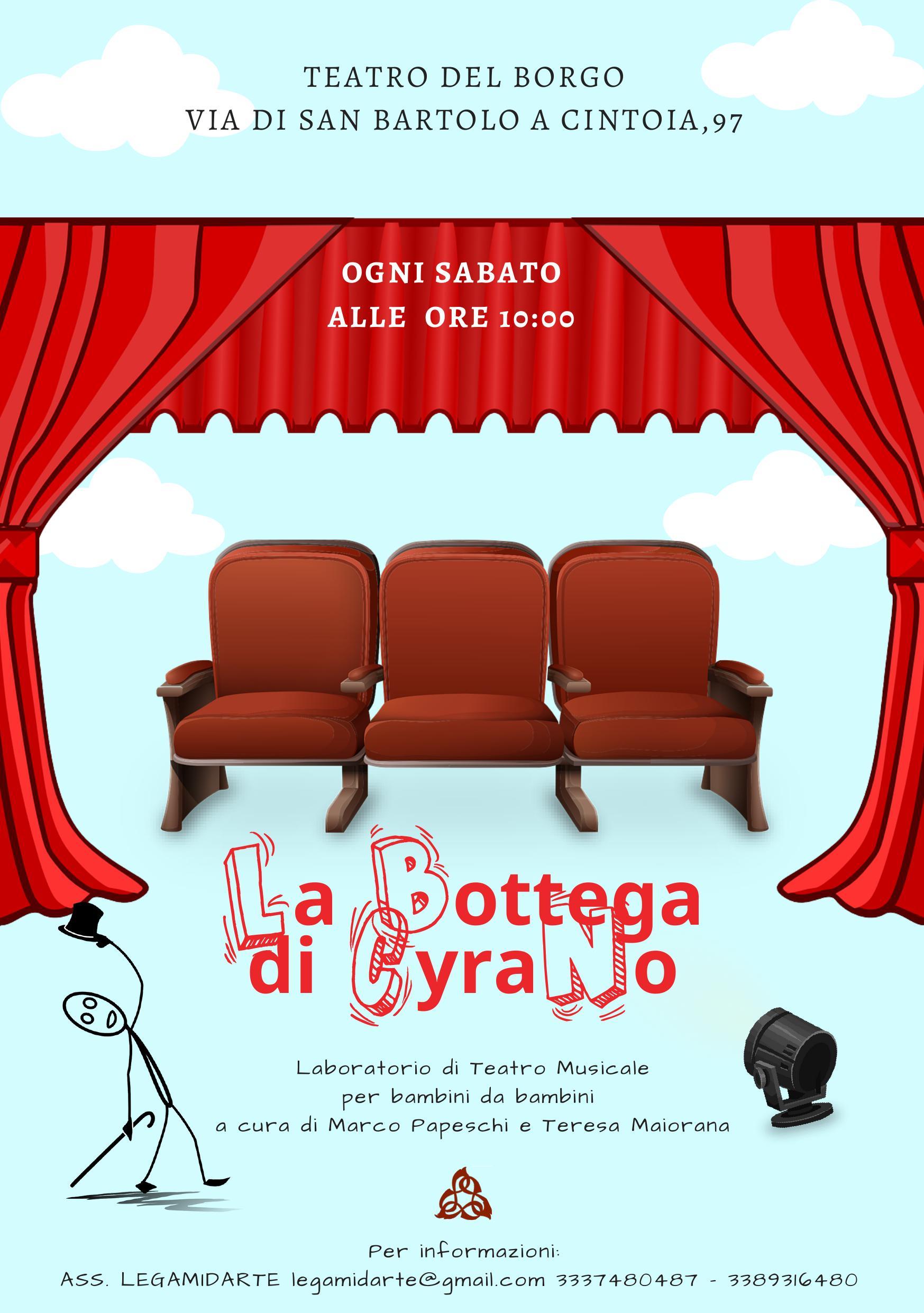 La bottega di Cyrano – Laboratorio di teatro musicale per bambini da bambini